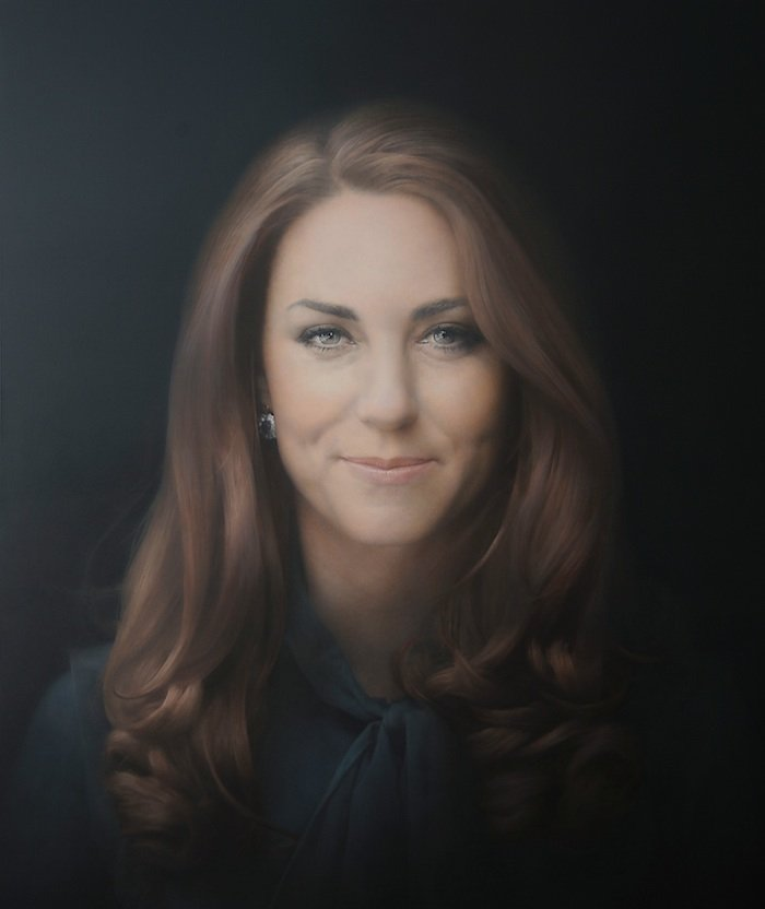 HRH The Duchess of Cambridge, 2012. Oil on canvas 115 x 96.5 cm.