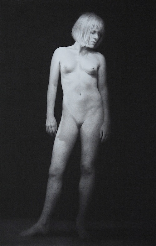 Recollection. Black chalk and pencil drawing. 98.5 x 63.5 cm.