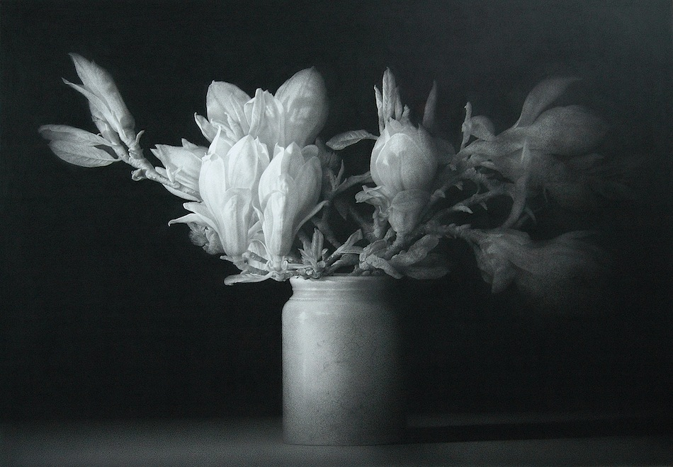 The Poet\'s Garden. Black chalk and pencil drawing. 92 x 131.5 cm.