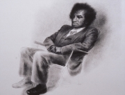 David seated. Chalk drawing.